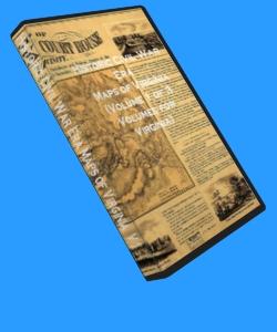 90 Rare Historic Civil War Maps of Virginia Vol 1 CD