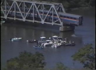 Aerial and Boat Views of Amtrak Train Derailment, Mobile, Alabama